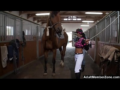 Stableboy Rides The Horny Horserider