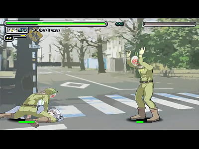 Fighter girl hentai having sex with men in wolp...