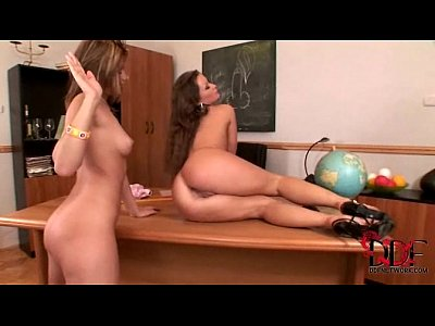 Hot teacher Lila has lesbian sex with her teen student Maya