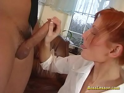 skinny redhead gets rough anal fucked