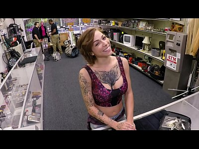 XXX PAWN - Tattooed Babe Harlow Harrison Gives Pawnshop Owner A Hard Time