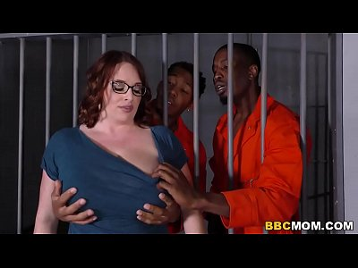 porn free in Busty Mom Maggie Green Takes Two BBCs in a Jail