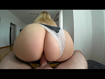 Fucked a young girl with a big ass through panties