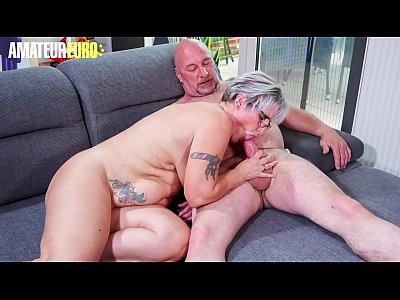 AMATEUR EURO - Horny Chubby German Granny Brigitte T. Wants To Have Sex With The Plumber