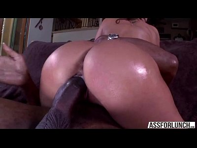 Brunette goes hardcore pussy fucked by a big black cock guy