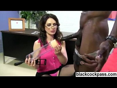 White girl meets two big black monsterdicks