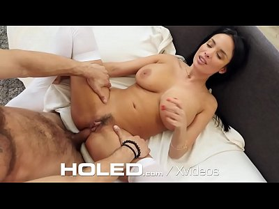 HOLED French Maid Lets Him Put The tip In Her Ass
