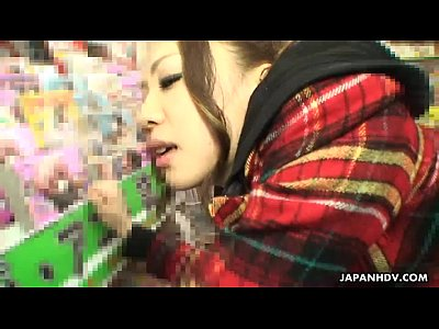 Asian slut in a store gotten fucked and ass spu...