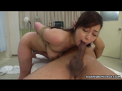 Busty Japanese chick, Maria Ono got tied up and...