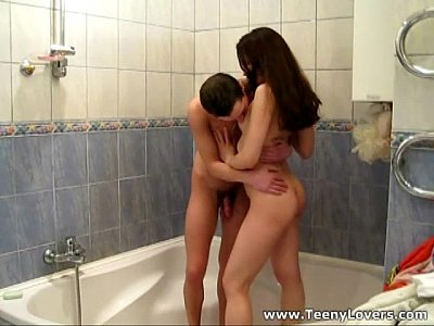 Wet teenagers making love