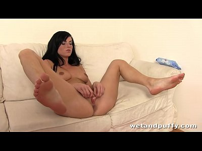 Raven Haired Cutie With Nice Natural Boobs Dildo Pussy European Fingering Wet Closeup Toy Toys Masturbation Solo Orgasm Euro Fingers
