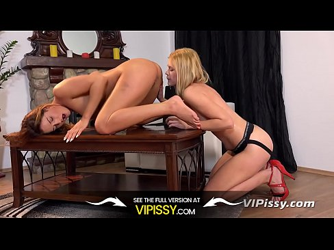 Pissing cunt Wet lesbians – Delphine and Nicole get drenched throughout piss play