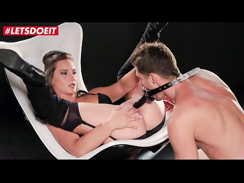 Clip sex LETSDOEIT - Sweet Brunette Naomi Bennet Gets Her Pussy Fucked Hard & Intense By A Big Black Strapon