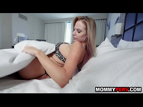 Mommy and stepson sharing a hotel bed - taboo family sex