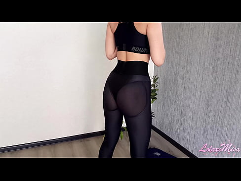 Sexy Fit Girl in Leggings Plays with Dildo During Workout - lolaxxmisa