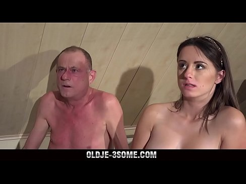2 virgins jump on grandpa cock and fucks his brains out 8