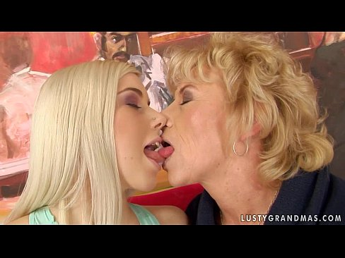 granny margarette having some lesbian sex with a younger girl