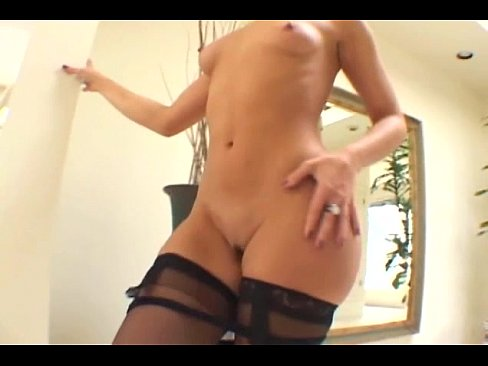 Olivia anal masturbation and analsex in stockings
