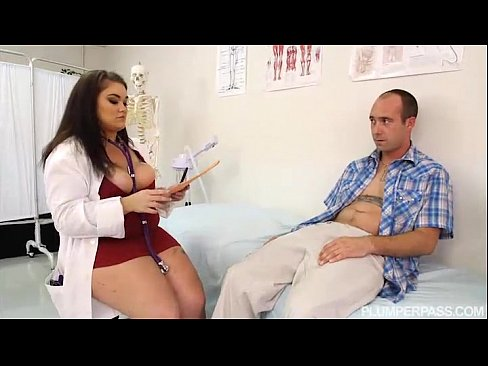 Doctor feeling hot busty tits