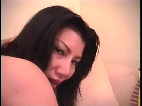 asian skank gin seng uses dildo then has interracial sex with white stud