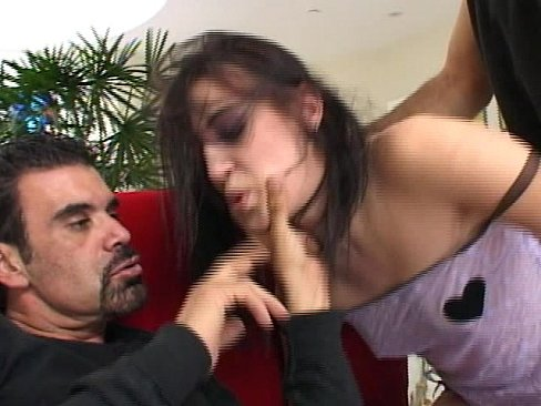 double cock and dp for hot brunette