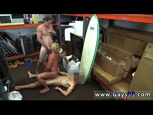 Sexy muscly surf dude fucked in pawn shop