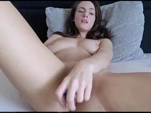 Woman and photo and dildo