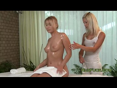 Lesbian Blondes In Breasts Massage