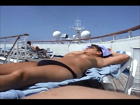 Huge mature tits on cruise