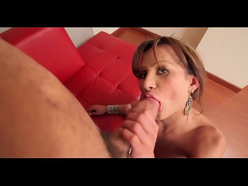 Tranny with hard ramrod takes in ass