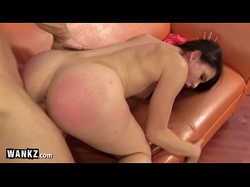 Butt oiled and spanked
