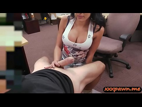 Babe sucks off and gets her yummy coochie pounded by pawn keeper