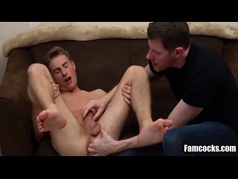 Daddy Helps Son Relax A Bit