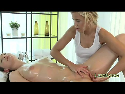 Oiled lesbians fingering each other