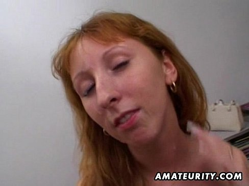 Redhead Hot Mom Double Blowjob, Anal And Double Facial Cumshots