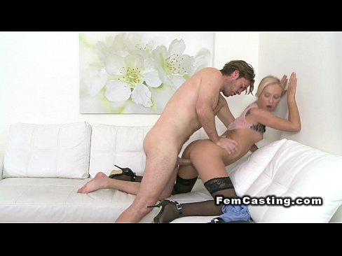 Female agent fucked from behind in casting