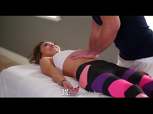 PASSION-HD After park workout massage fuck and creampie with Kara Faux