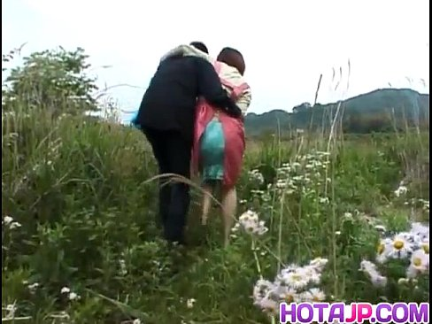 Himawari is fucked with vegetables and rides cock on the field xnxx porn videos