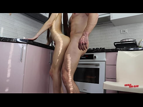 Neighbour fucked a married chick right in the kitchen
