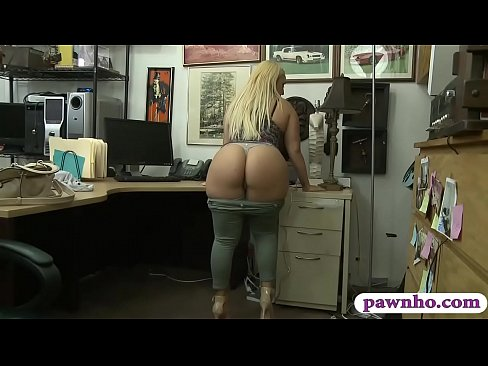Image Cranky big ass woman nailed by pawn dude in his office