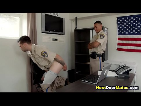 Gay cop caught red handed fucking himself with dildo