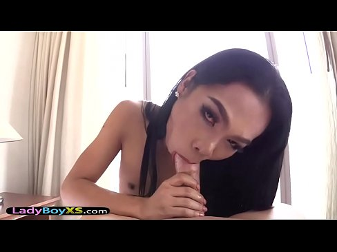 flat chested asian ladyboy destroyed by a huge dick