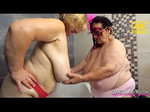 Clip sex Busty grannies enjoy each other's tits