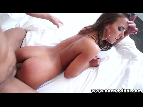 Nacho Vidal  manhandles the tiny girl, she blows him ass-to-mouth. He mashes her natural titties as she rides his meat, and her bouncing cheeks hight.