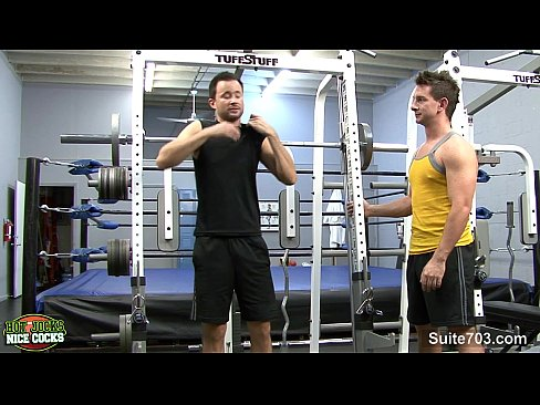 Gays ass fucking in the gym