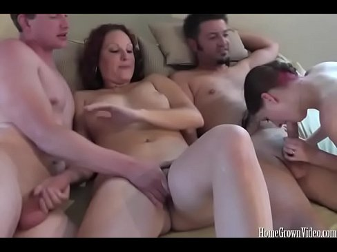 Real amateur orgy with two cute babes