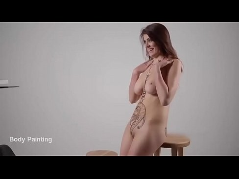 How to Body Painting - body paint tutorial - body art girl