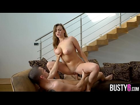 Huge natural boobs pornstar titjob and cowgirl ride
