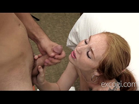 Young Redhead Mom Orgasms, Fucked and Cum Facial