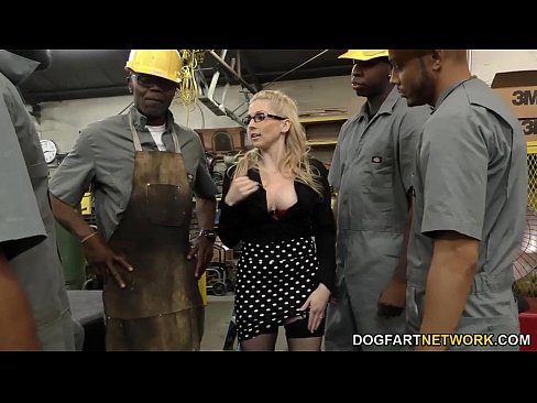 Clip sex Busty blonde Christie Stevens gets anal from big black cocks